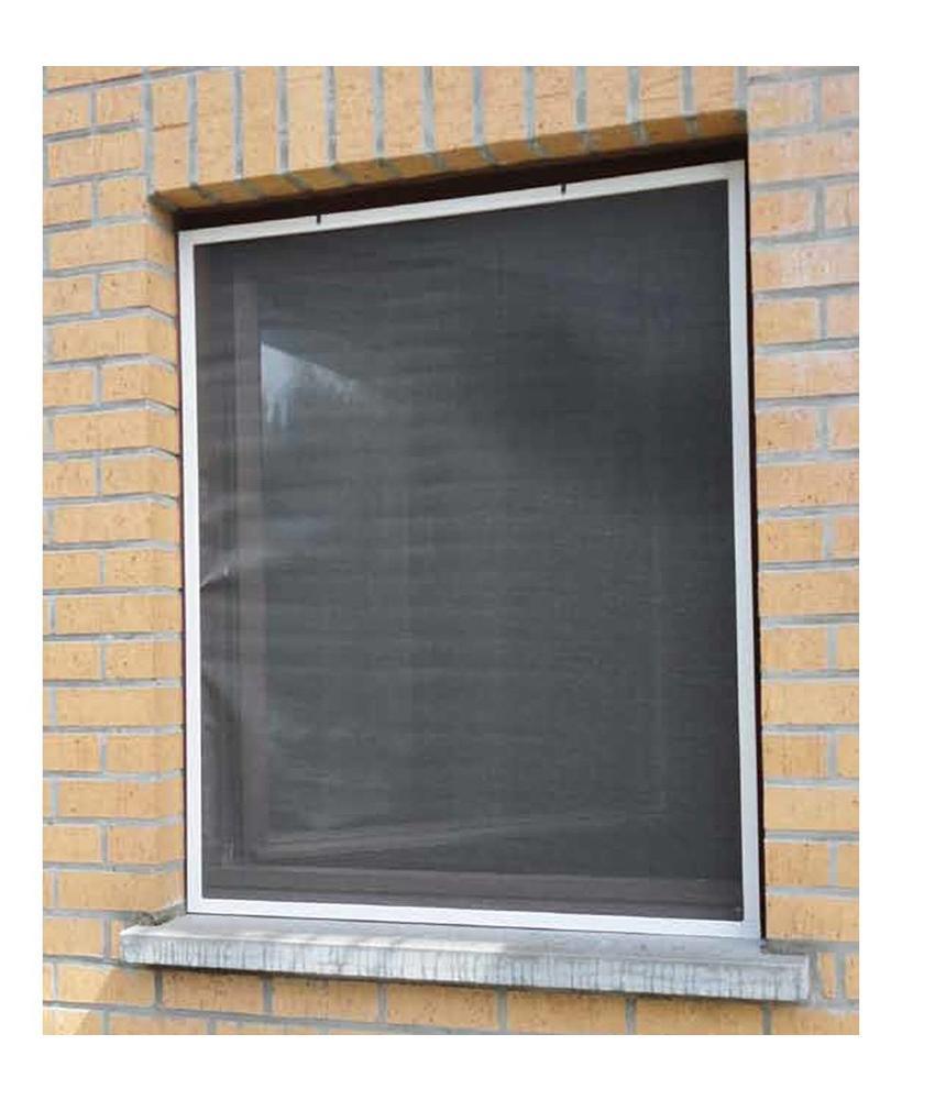 Aluminium Vliegenraam Wit 100 x 120 cm.