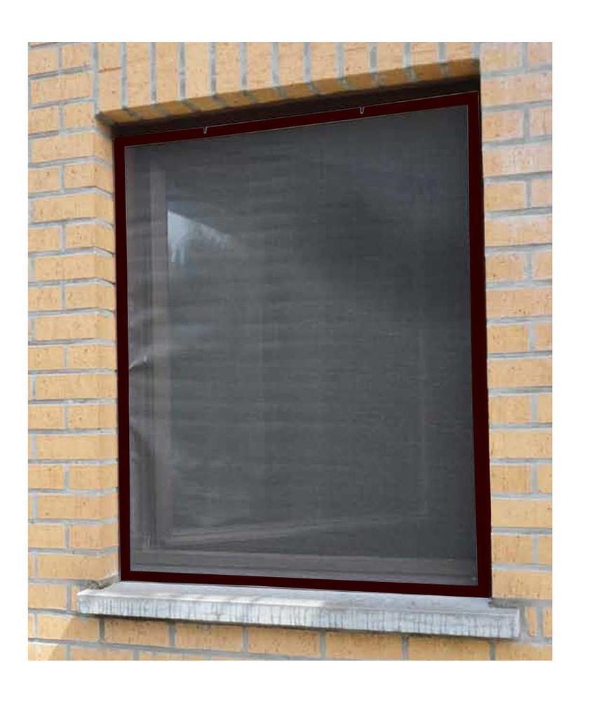Aluminium Vliegenraam Bruin 100 x 120 cm.