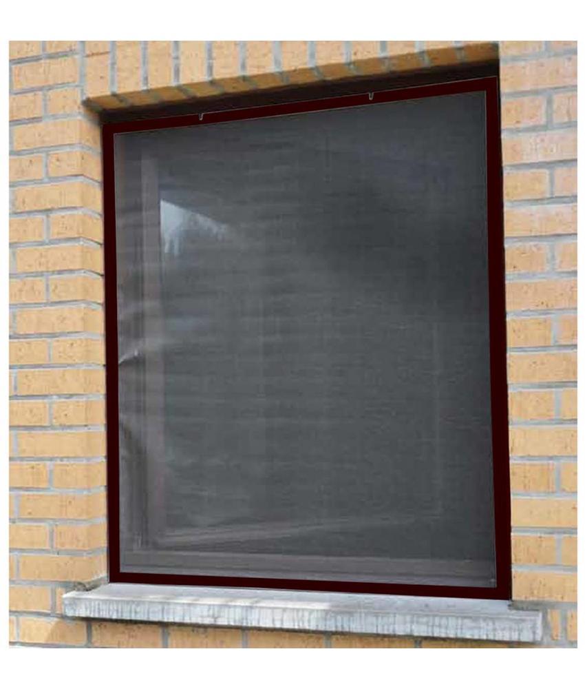 Aluminium Vliegenraam Bruin 120 x 150 cm.