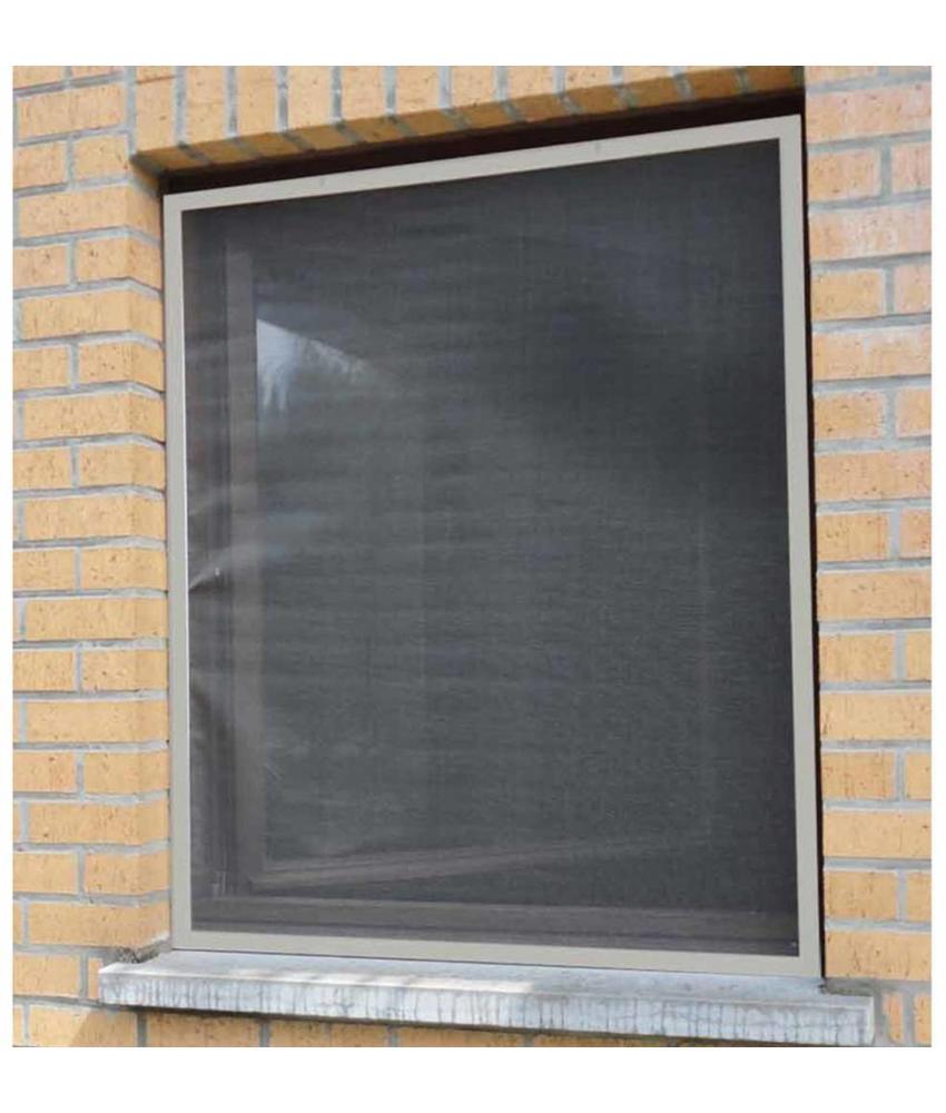 Aluminium Vliegenraam Grijs 120 x 150 cm.