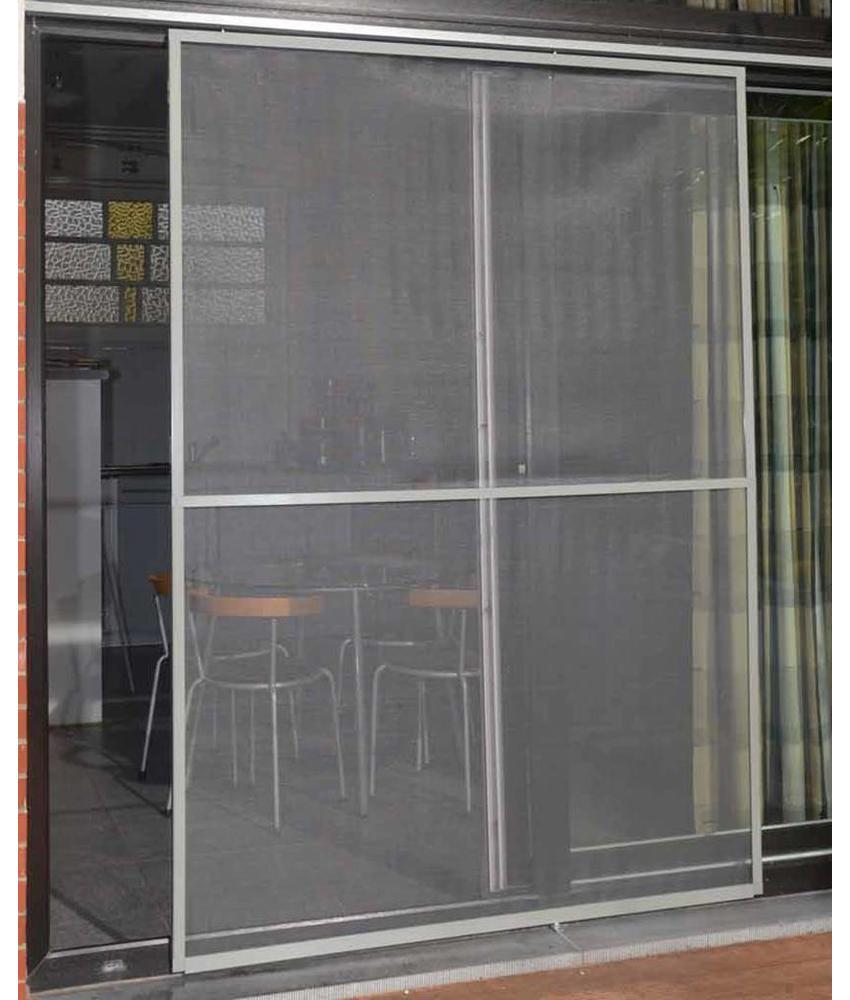 Aluminium Hordeur Veranda Grijs 150 x 220 cm.