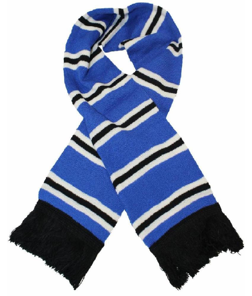 Sjaal gestreept Blauw / wit / Zwart
