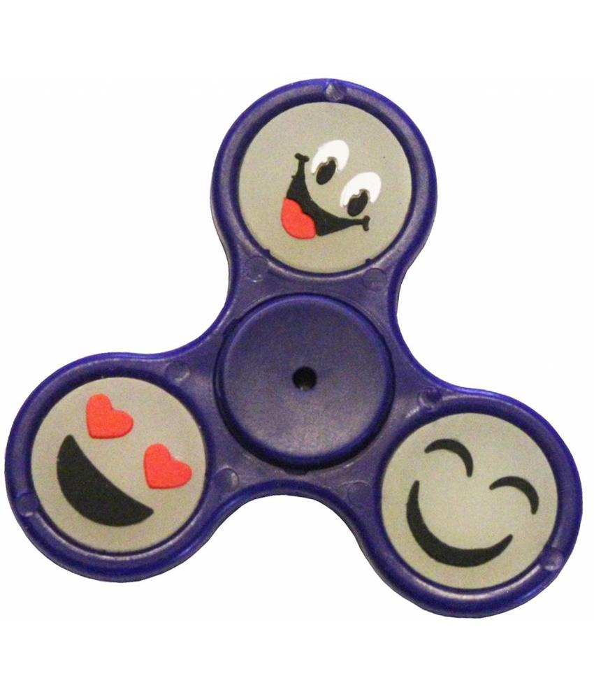 Hand spinner smiley Blauw