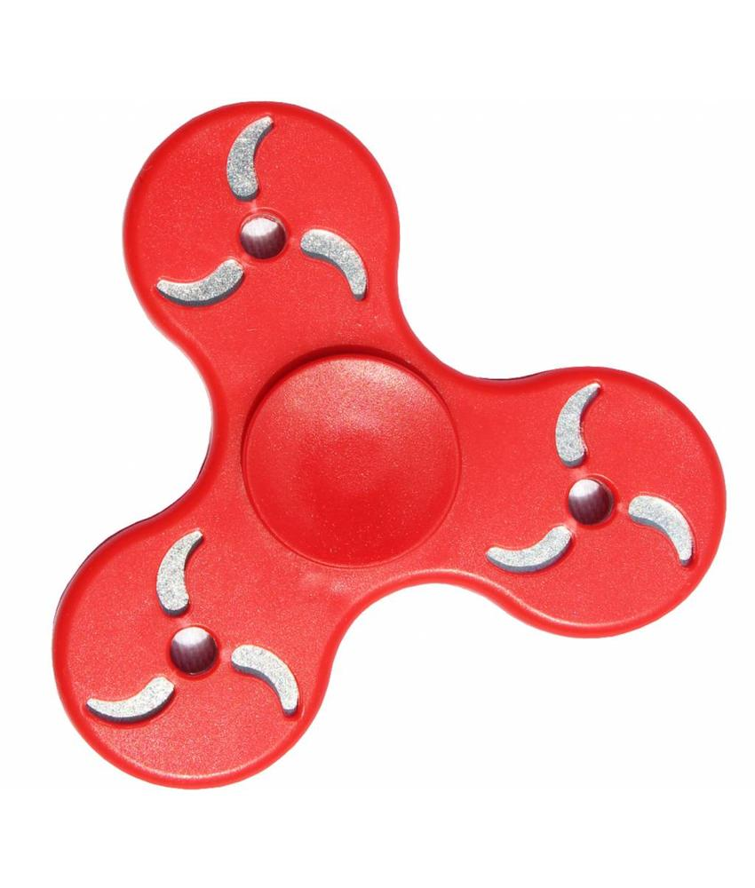 Hand spinner Tri-Blade Rood