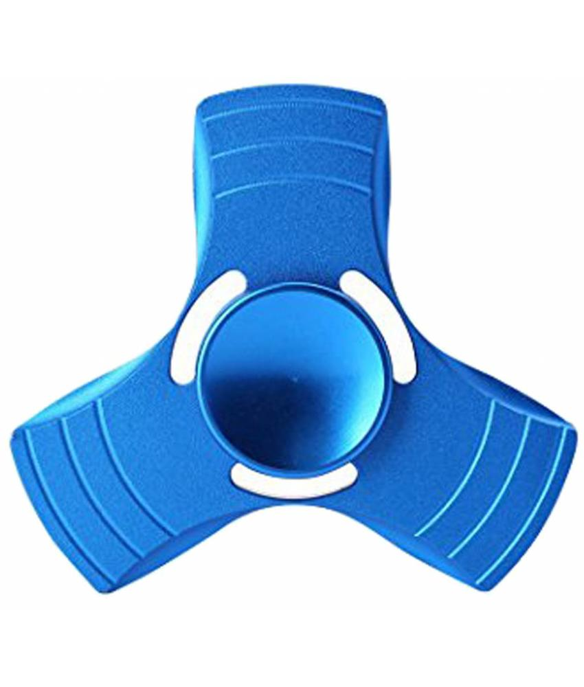 Aluminium hand spinner Blauw