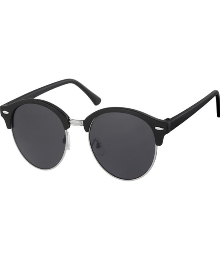 Clubmaster zonnebril matt black, nickel rim