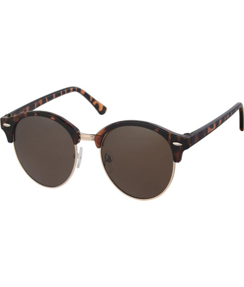 Clubmaster zonnebril brown demi, gold rim