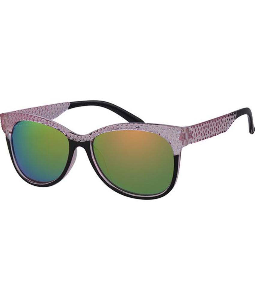 Dames Zonnebril transparant pink , black