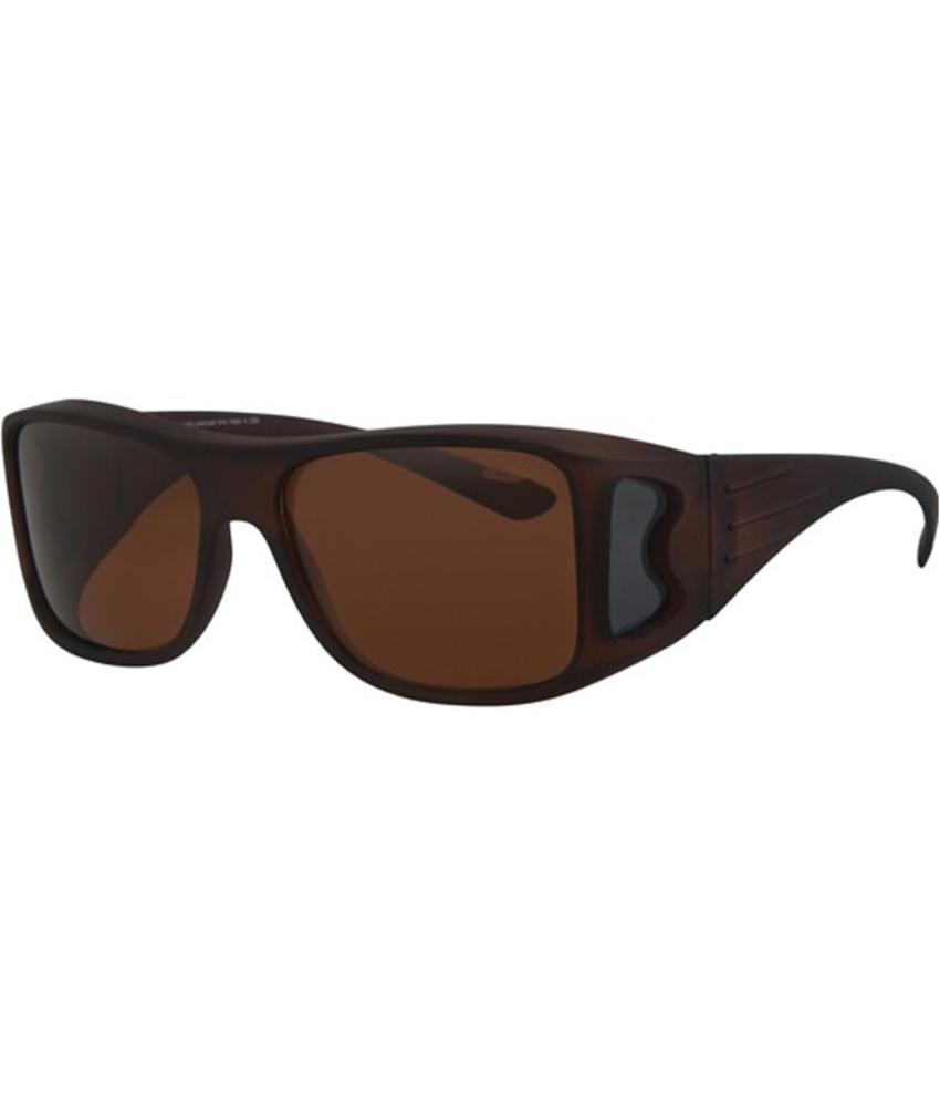 Revex Overzet Zonnebril rubber touch , dark brown