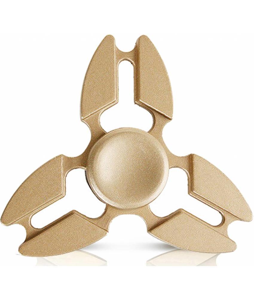 Metalen hand spinner Tri-Aluminium Goud