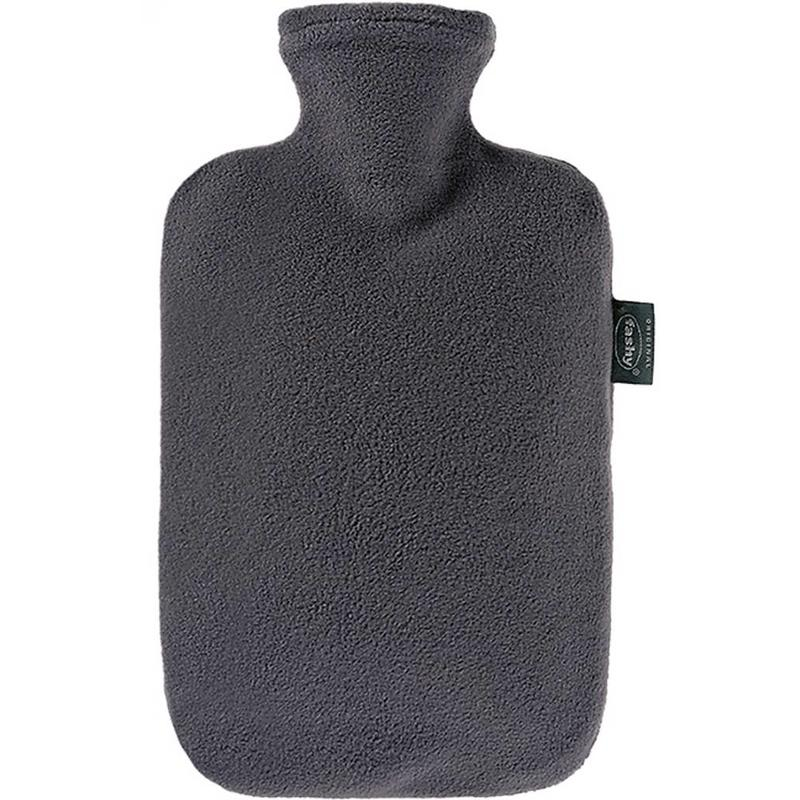 Fashy Warmwaterkruik 2 L. fleece hoes antraciet grijs
