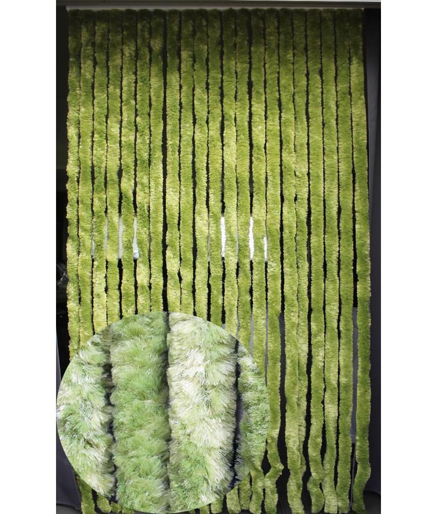 Vliegengordijn kattenstaart 90x220 cm. Olijf Groen