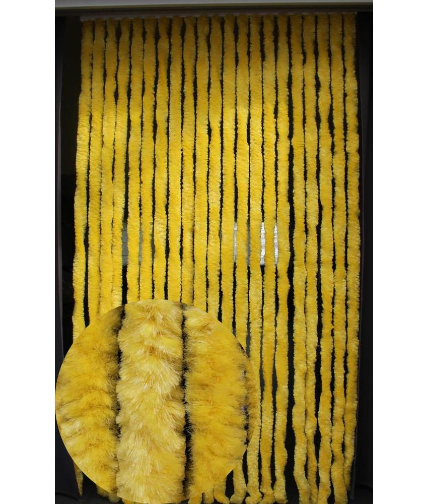 Vliegengordijn kattenstaart 90x220 cm. fel Geel