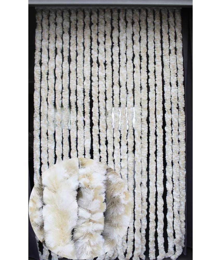 Vliegengordijn kattenstaart 90x220 cm Wit / Beige mix