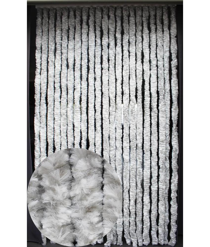 Vliegengordijn kattenstaart 90x220 cm Wit / Grijs mix