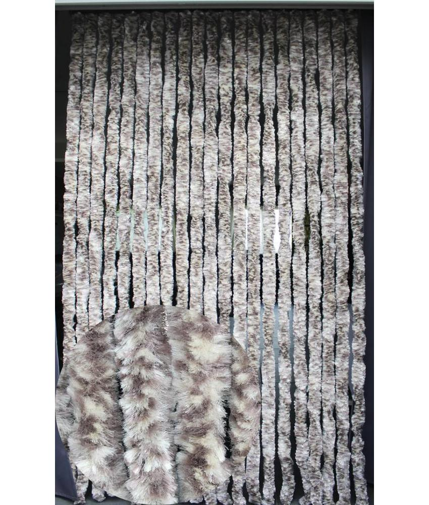 Vliegengordijn kattenstaart 90x220 cm Beige / Bruin mix