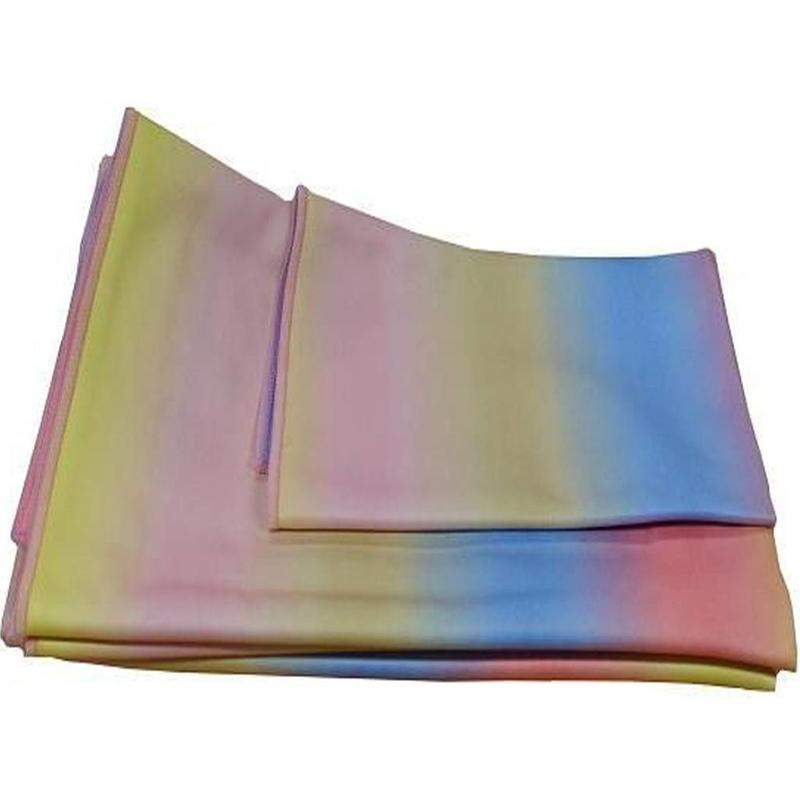 Aqua Laser Microvezel glasdoek Rainbow , 5-delig
