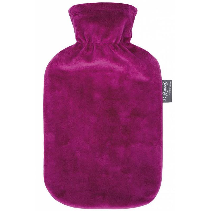 Fashy Warmwaterkruik 2 L. zachte velours burgundy