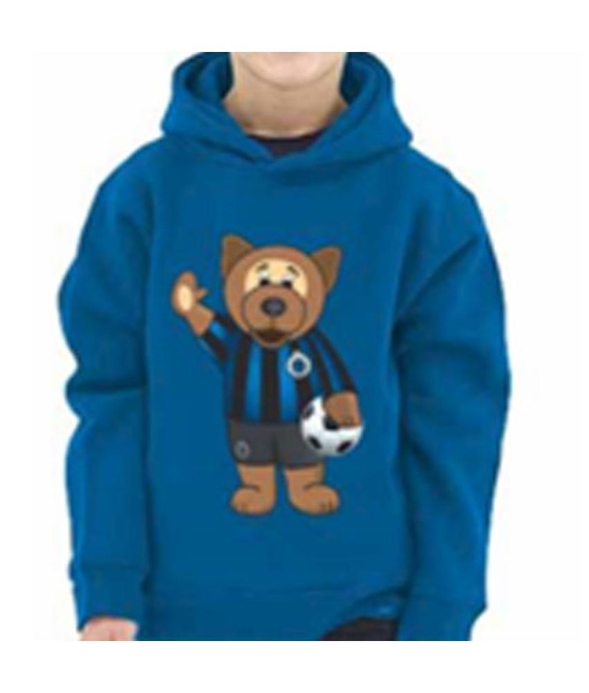 Kids Sweater hoodie met beer Club Brugge