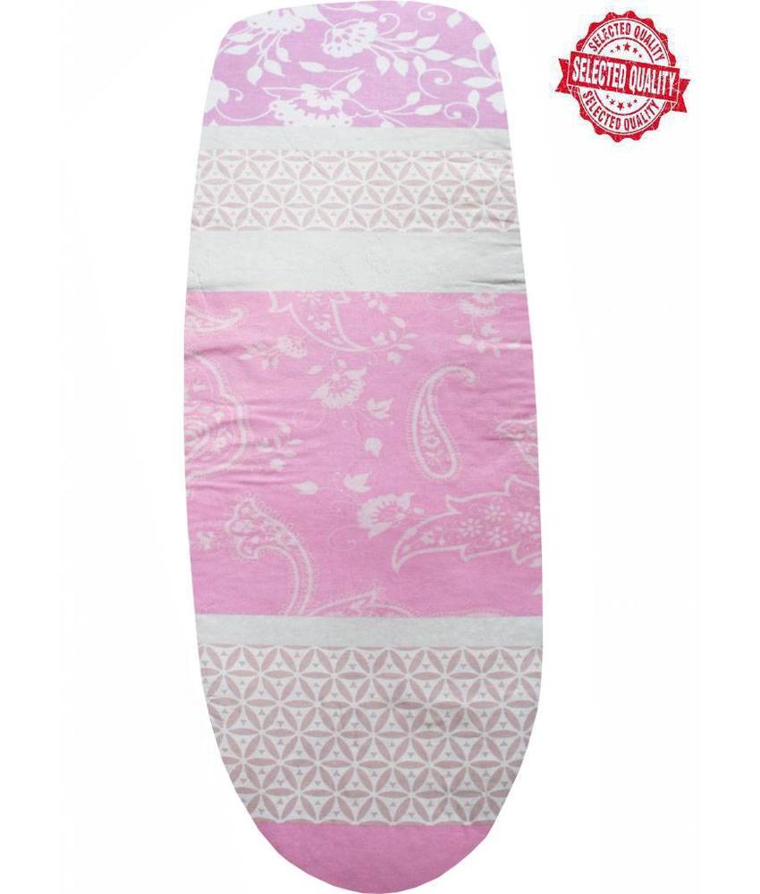 Strijkplankovertrek 140 x 50 cm roze / design