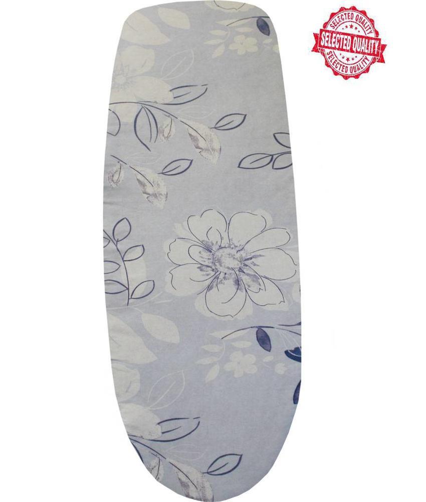 Strijkplankovertrek 140 x 50 cm l. blauw / witte bloem