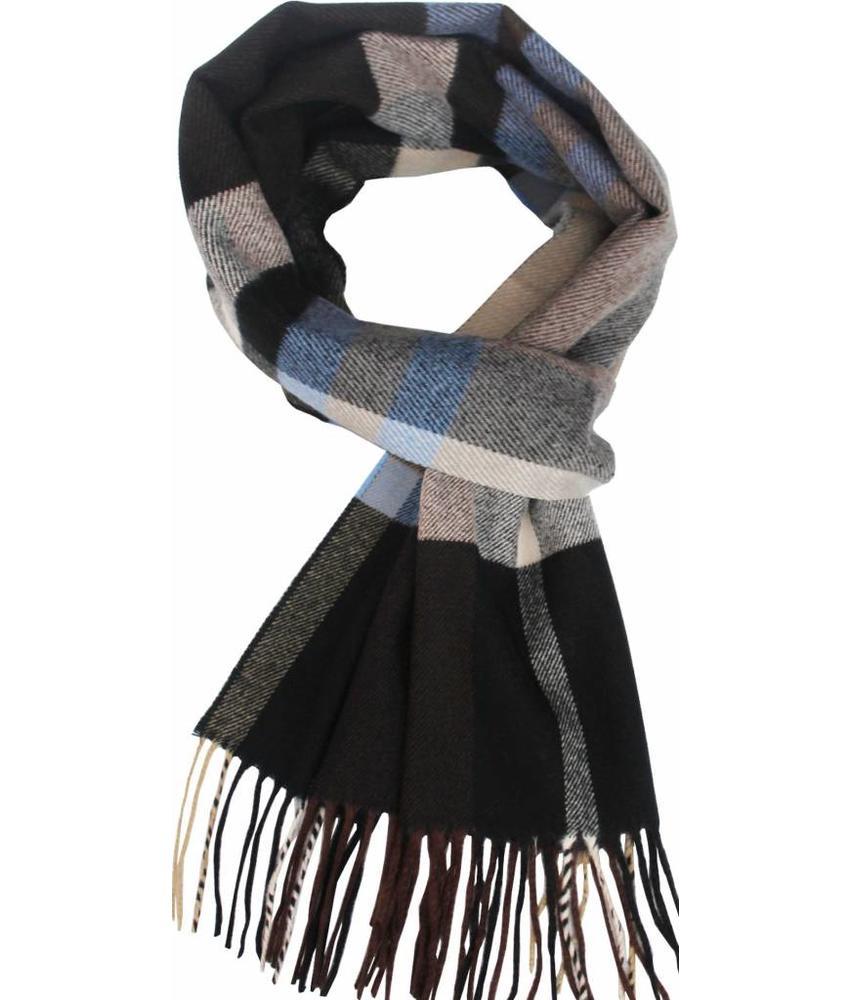 Geruite heren sjaal Blue