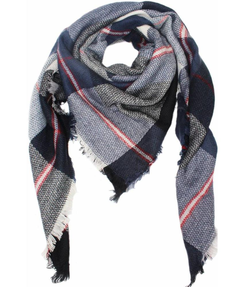 Dames Sjaal 130 x 130 cm Blauw