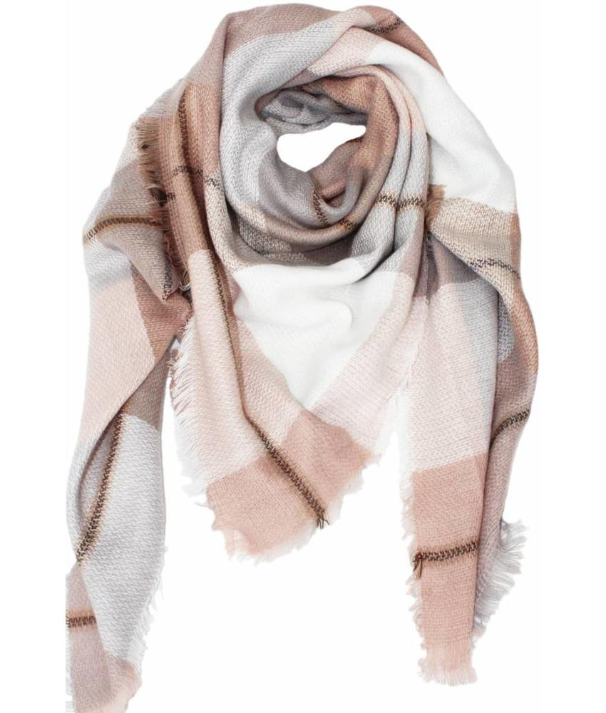 Dames Sjaal 130 x 130 cm Roos