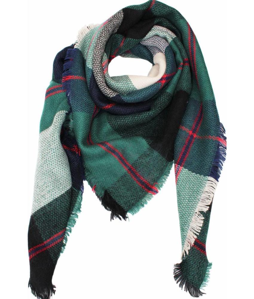 Dames Sjaal 130 x 130 cm Groen