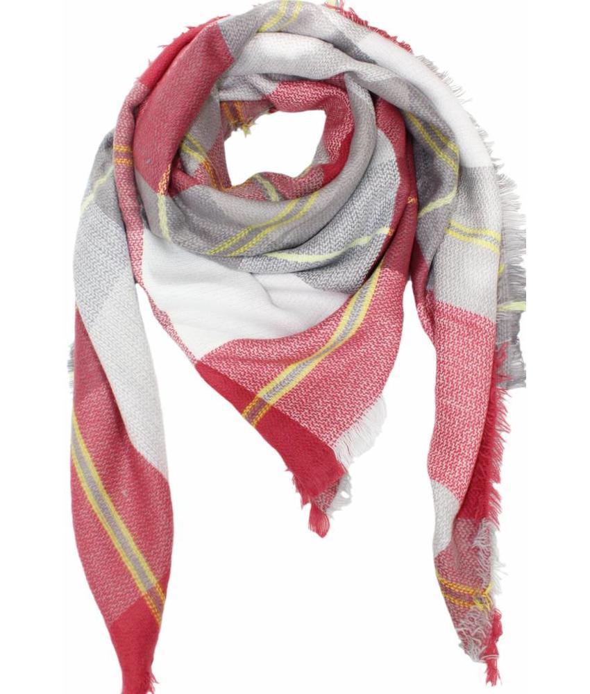 Dames Sjaal 130 x 130 cm Rood