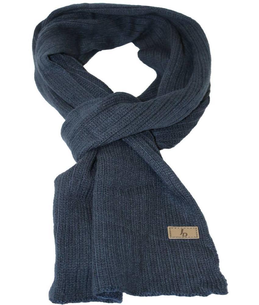 Gebreide sjaal blauw met logo