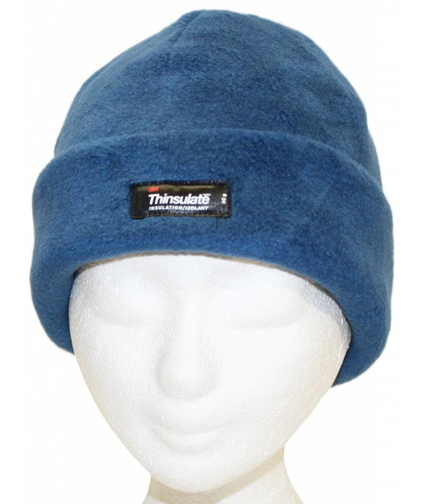Muts polar fleece 40 gr. Denim blauw