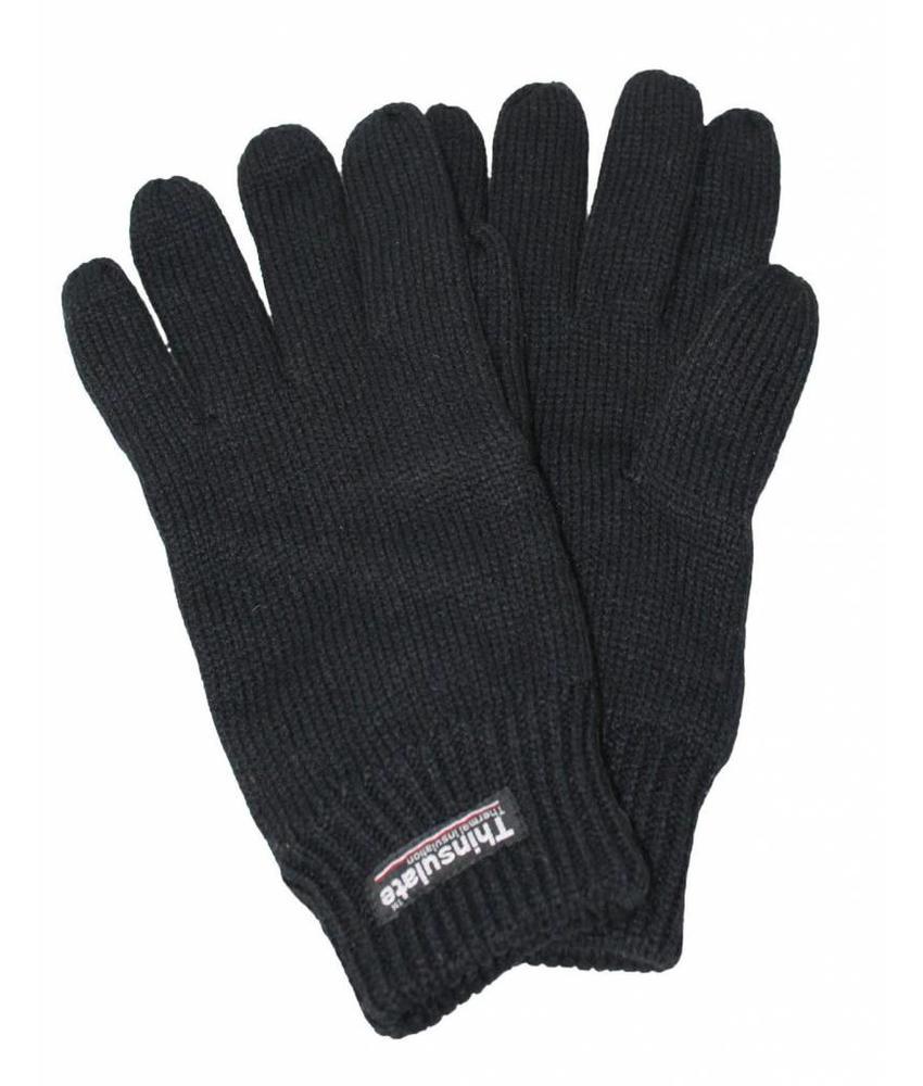 Gebreide Heren Handschoenen Thinsulate Zwart