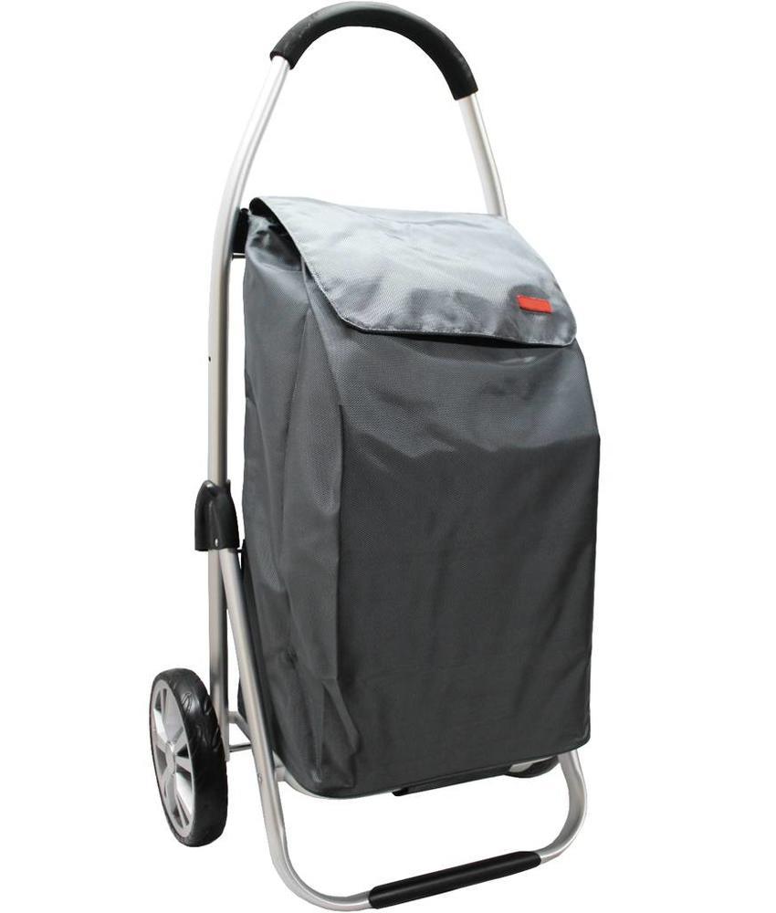 Boodschappentrolley Grey 48 L.Inklapbaar Aluminium