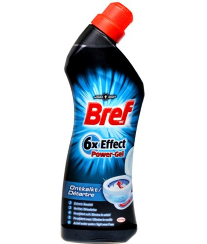 Bref WC reiniger 6x effect  Power-Gel Ontkalkt  750ml