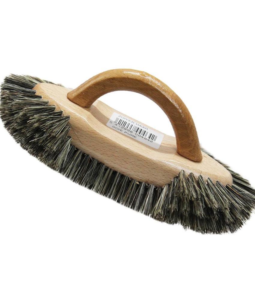 Meubelborstel met handvat zuiver grijs haar
