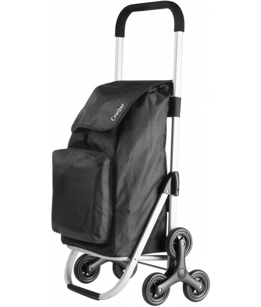 Boodschappentrolley  - Shopping Cruiser - Trappenloper  Zwart