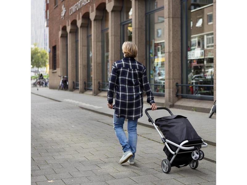 Boodschappentrolley  - Shopping Cruiser met roterend voorwiel - Zwart