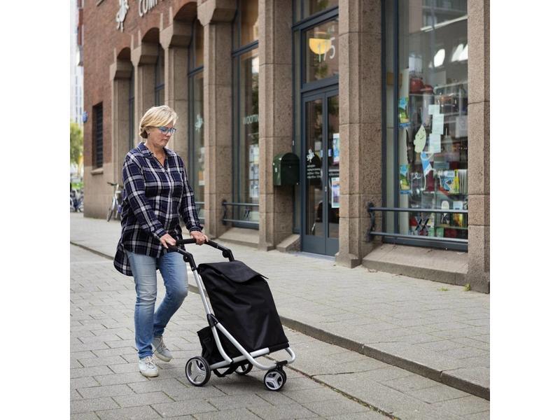 Boodschappentrolley  - Shopping Cruiser met roterend voorwiel - Grijs