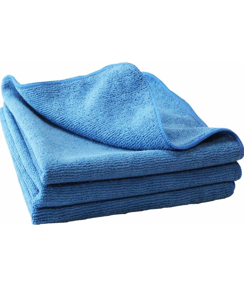 "Microvezeldoeken  3 st.  40x40cm  ""Ultra  cleaning cloth NOVO""   Blauw"