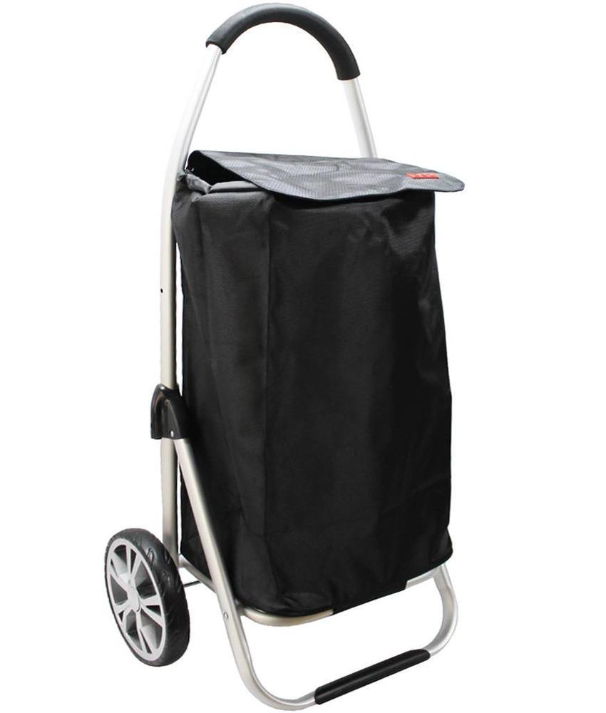 Boodschappentrolley Black 48 L.Inklapbaar Aluminium