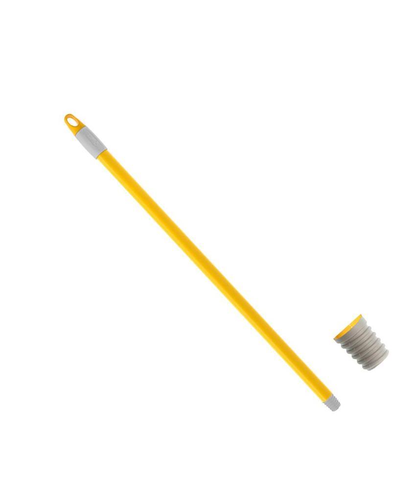 Steeltje  70 cm  Geel gelakt . Ø 21 mm. It/dr