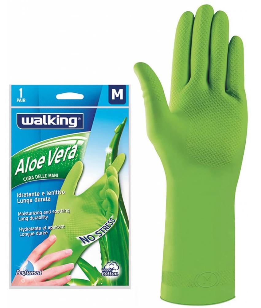 """Squizzo Latex handschoenen """"Aloë Vera"""" met fleece gevoerd"""