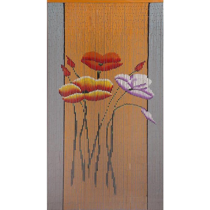 """Bamboe vliegengordijn """"Klaproos""""  90 x 200 cm"""