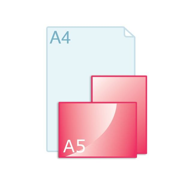 Enkele kaart A5 (148 x 210 mm)