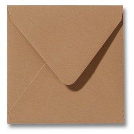 Gekleurde envelop Bruin