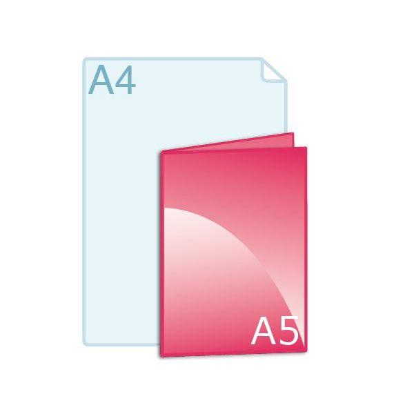 Gevouwen kaart A5 (148 x 210 mm)
