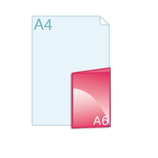 Gevouwen kaart A6 (105 x 148 mm)