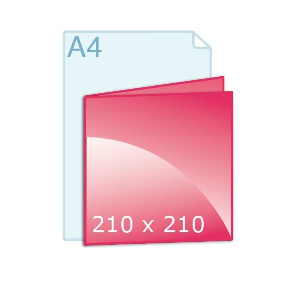 Gevouwen kaart carré 210 (210 x 210 mm)
