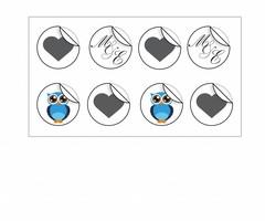 Zelfklevende sluitzegels om enveloppen te sluiten